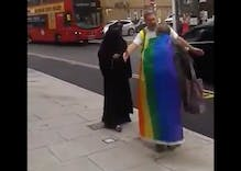 Muslim woman arrested for screaming abuse at elderly pride attendee