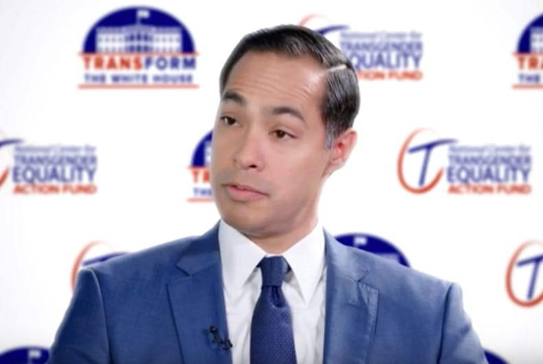 Former HUD Secretary and 2020 Democratic presidential candidate Julian Castro