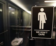 Students protest their school's trans bathroom policy after vicious rumors about it spread
