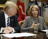 Betsy DeVos is promoting a school that bans transgender students & staff