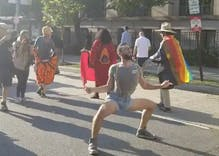 LGBTQ activists blocked DC streets with a dance party