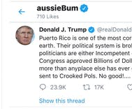 aussieBum underwear brand was liking Trump's tweets. They claim they got hacked.