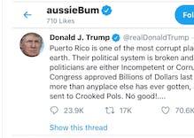 aussieBum underwear brand was liking Trump's tweets. They claim they got hacked.
