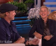 Ellen says she dated one of Brad Pitt's ex-girlfriends