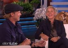 Ellen says she dated one of Brad Pitt's ex-girlfriends