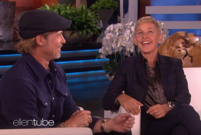 Brad Pitt on Ellen