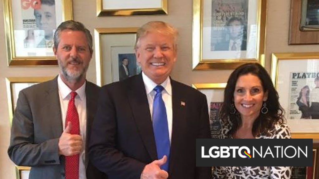 "Jerry Falwell Jr endorsed Donald Trump after being blackmailed with ""racy"" pictures"