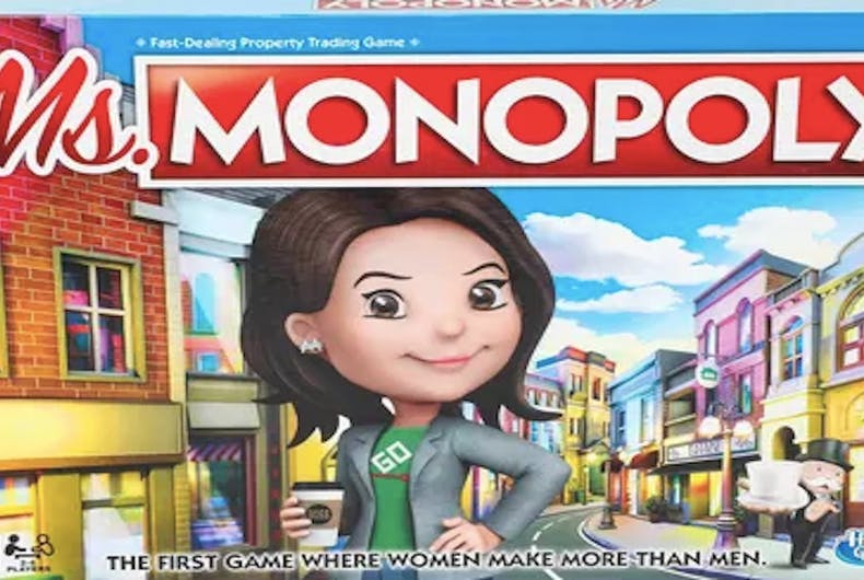 Ms. Monopoly, Hasbro, board game, gender wage gap, gender pay gap