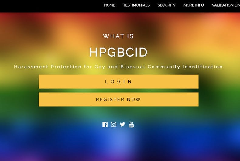 Harassment Protection for Gay and Bisexual Community Identification, scam