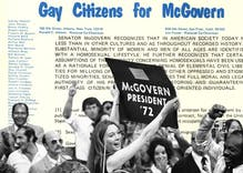 In 1972, gay people spoke at the Democratic National Convention for the first time