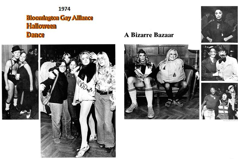 Page from a yearbook about the Halloween dance