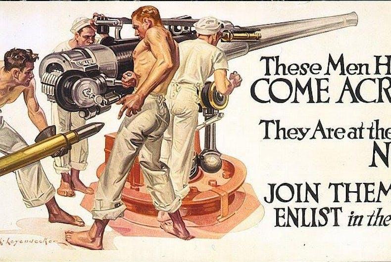 Frank Leyendecker WWI recruiting poster