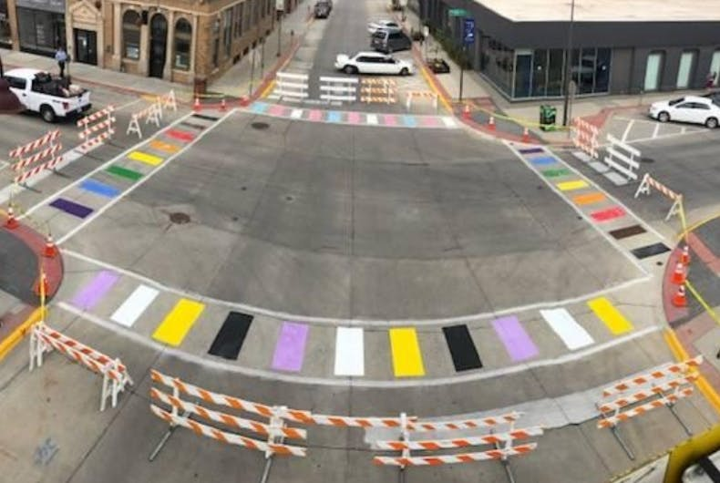 The crosswalks in Ames
