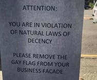 Businesses are getting threats over their rainbow flags. So the community banded together.