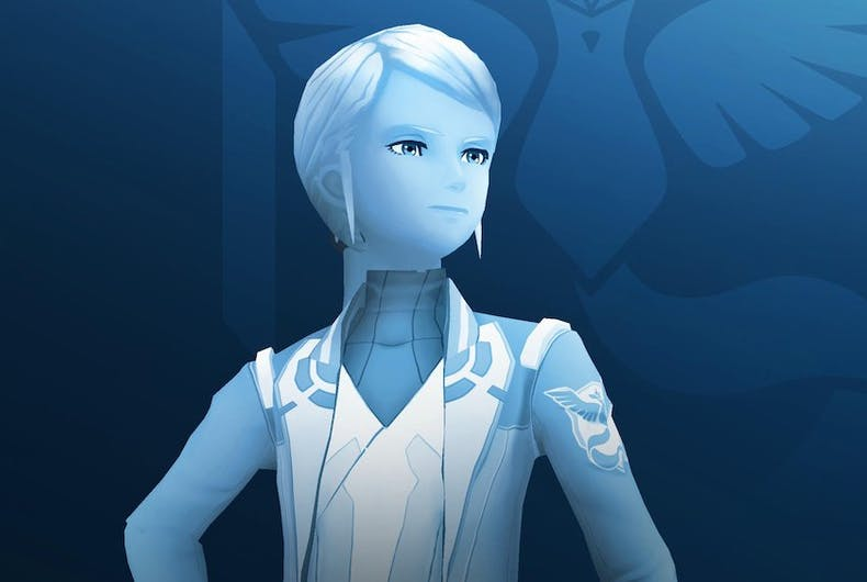 Blanche, the leader of Team Mystic from Pokemon Go