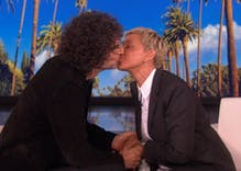 Ellen is so desperate to move past George W. Bush criticism that she kissed Howard Stern