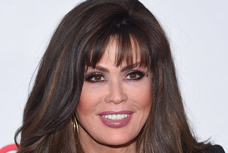 Marie Osmond arrives for the Hollywood Beauty Awards 2018 on February 25, 2018 in Hollywood, CA