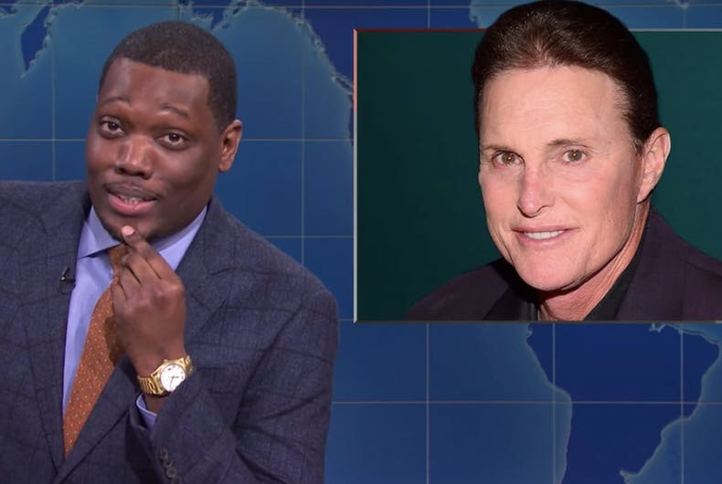 Michael Che makes a joke about Caitlyn Jenner on Saturday Night Live's