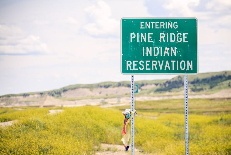 Pine Ridge is an Oglala Lakota reservation in South Dakota.