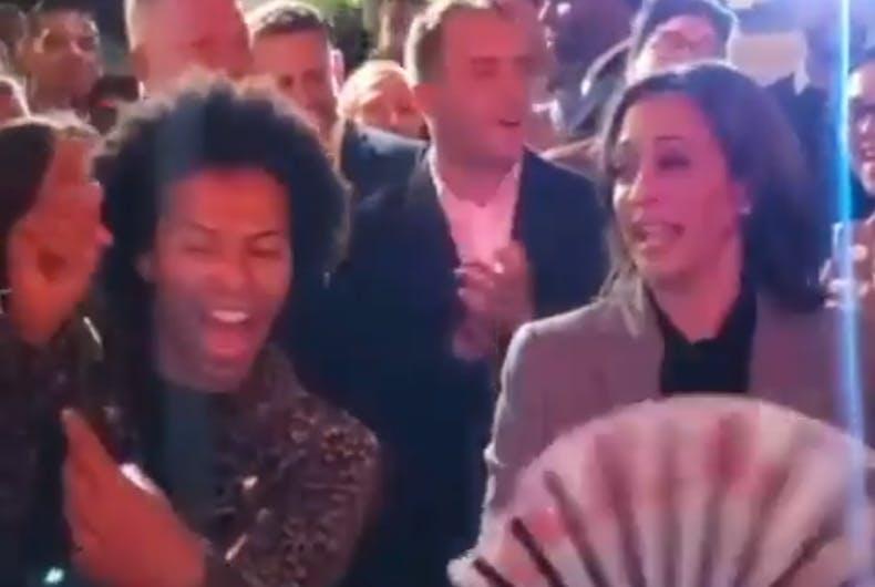 Shangela and Kamala Harris
