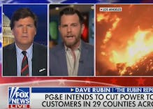 Tucker Carlson & gay rightwinger blame California wildfires on hiring LGBTQ people