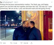 A picture of 2 black men kissing went viral. Here's why people love it.