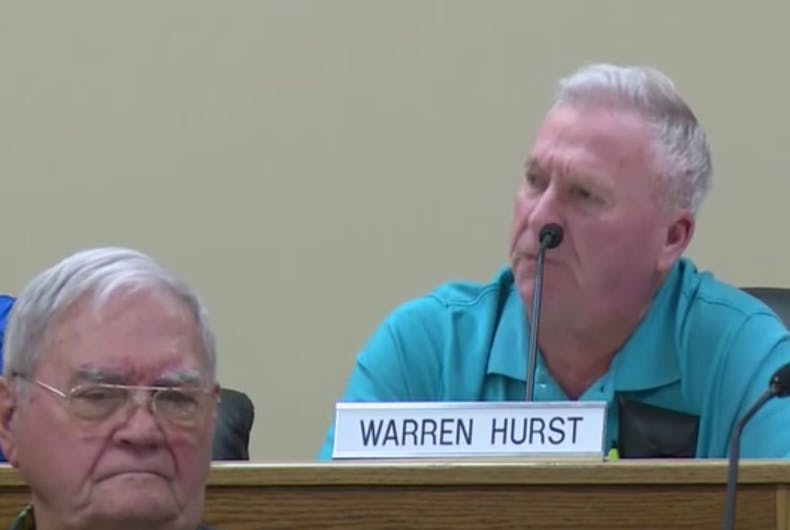 Sevier County Commissioner Warren Hurst