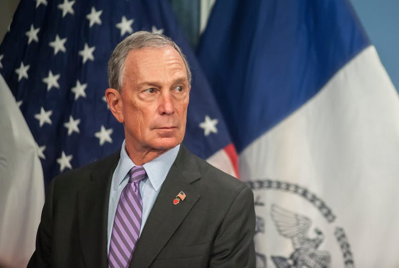 Mayor Mike Bloomberg prior to a bill signing ceremony in the Blue Room in City Hall, January 7, 2013