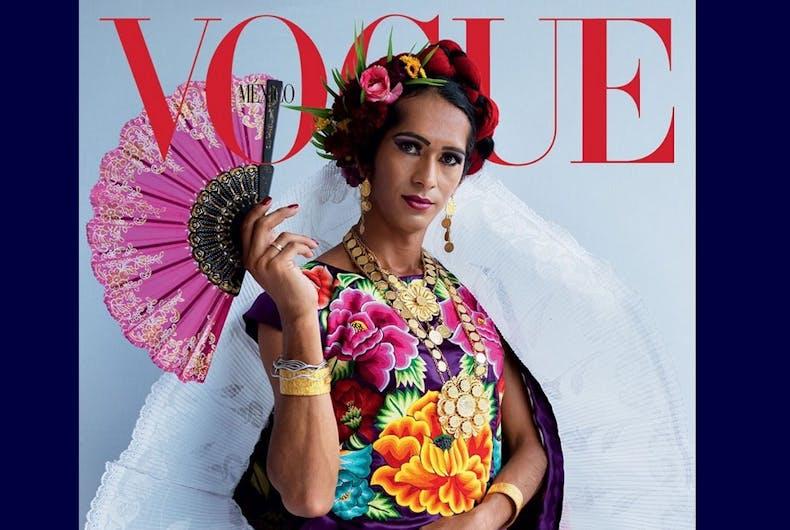 The cover with Estrella Vazquez