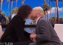 "Ellen's body double Ross ""kissed"" Howard Stern on her show"