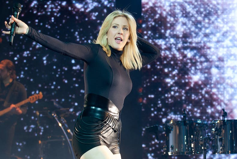 Popular English singer Ellie Goulding during her performance in Prague, Czech republic, January 30, 2016