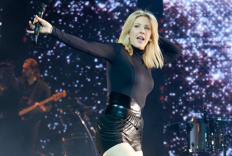 Popular English singer Ellie Goulding during her performance in Prague, Czech republic, January 30, 2016