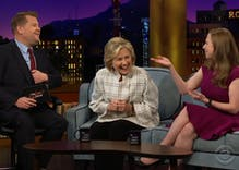 "Hillary Clinton makes fun of Donald Trump's ""alpha male impersonation"""