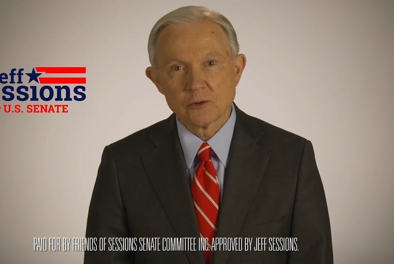 Jeff Sessions ad still