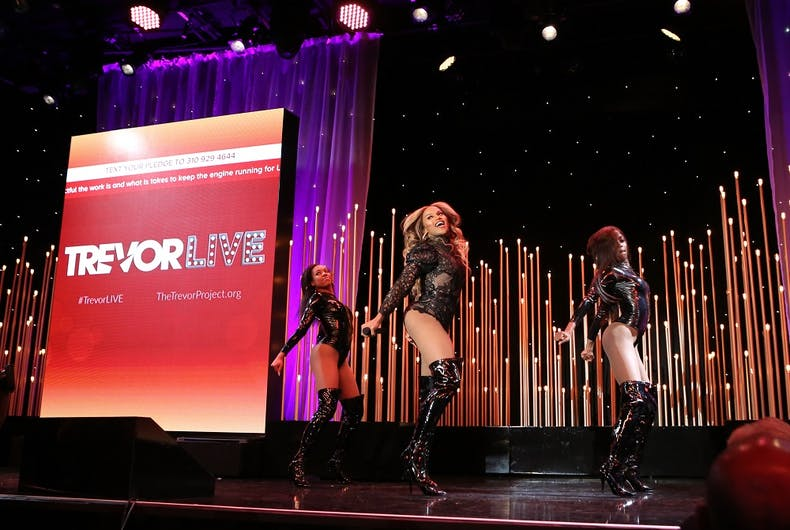 BEVERLY HILLS, CALIFORNIA - NOVEMBER 17: Miss Shalae performs onstage during The Trevor Project's TrevorLIVE LA 2019 at The Beverly Hilton Hotel on November 17, 2019 in Beverly Hills, California.