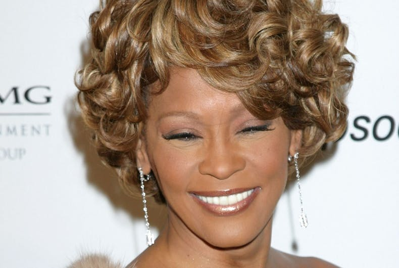 Whitney Houston arrives at the Clive Davis Annual Pre-Grammy Party at Beverly Hilton Hotel on February 10, 2007 in Beverly Hills, CA