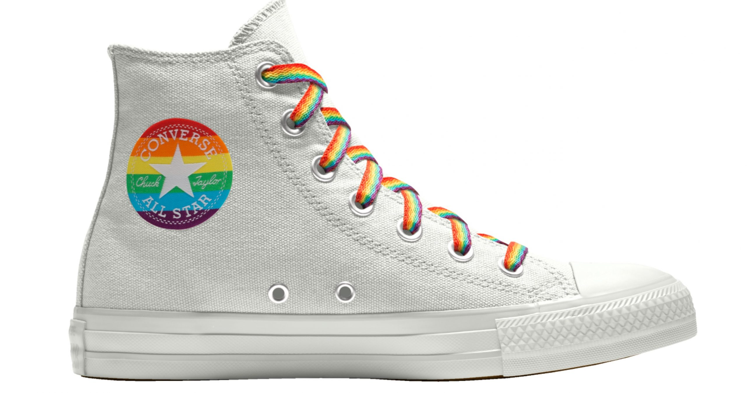 You can grab rainbow striped Chuck Taylors as a holiday