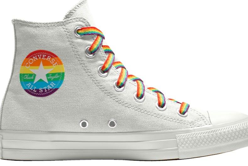Converse's rainbow pride Chuck Taylors