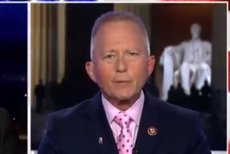 The politician switching parties over Trump impeachment vote has voted against same sex marriage