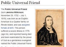 Twitter has a field day discovering Public Universal Friend, genderless Quaker of the 1700s