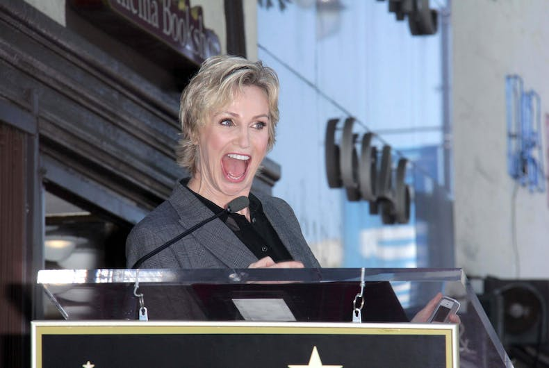 Actor Jane Lynch gets her official star on the Hollywood Walk of Fame in Hollywood, CA in 2013