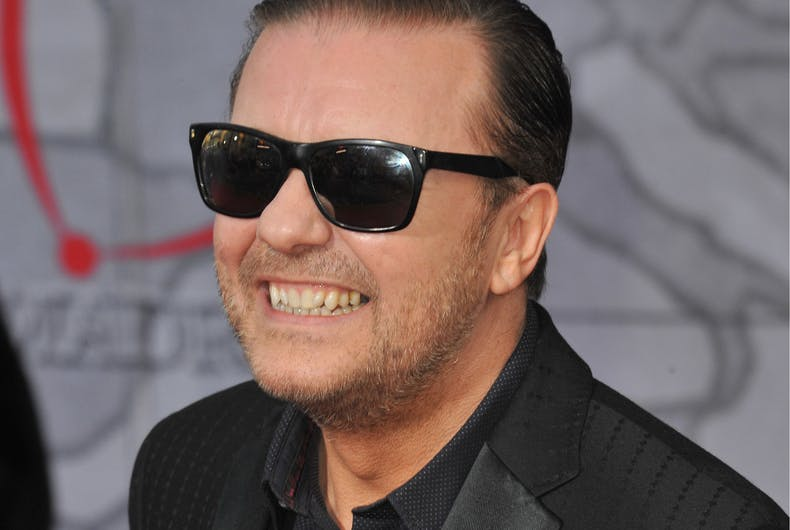 MARCH 11, 2014: Ricky Gervais at the world premiere of his movie Disney's