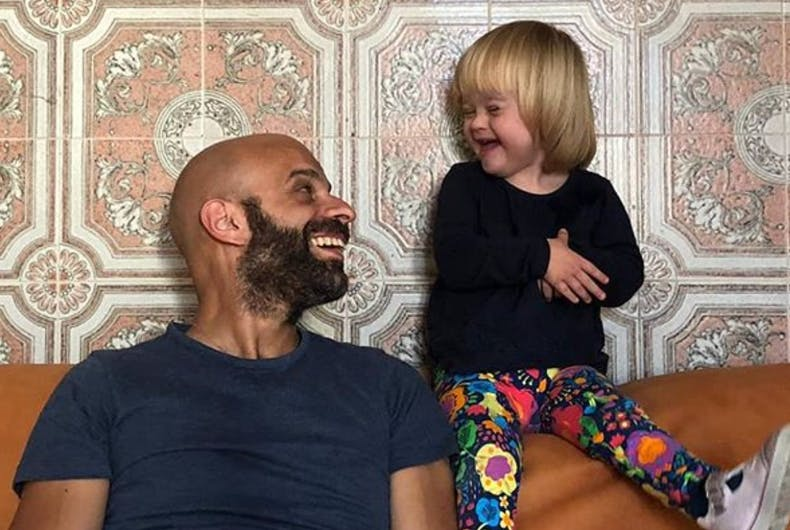 Luca Trapanese and his daughter, Alba