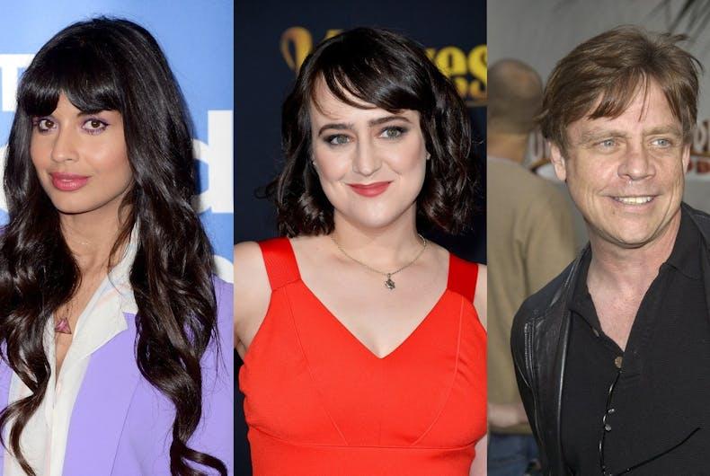 Jameela Jamil, Mara Wilson, and Mark Hamill