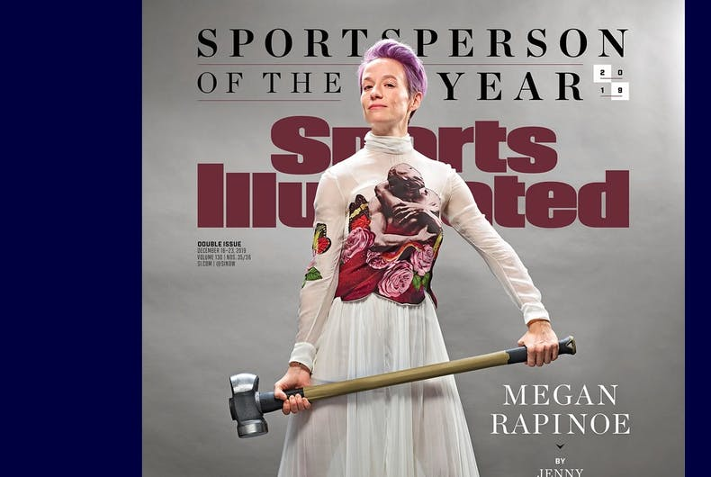 Megan Rapinoe on the cover of