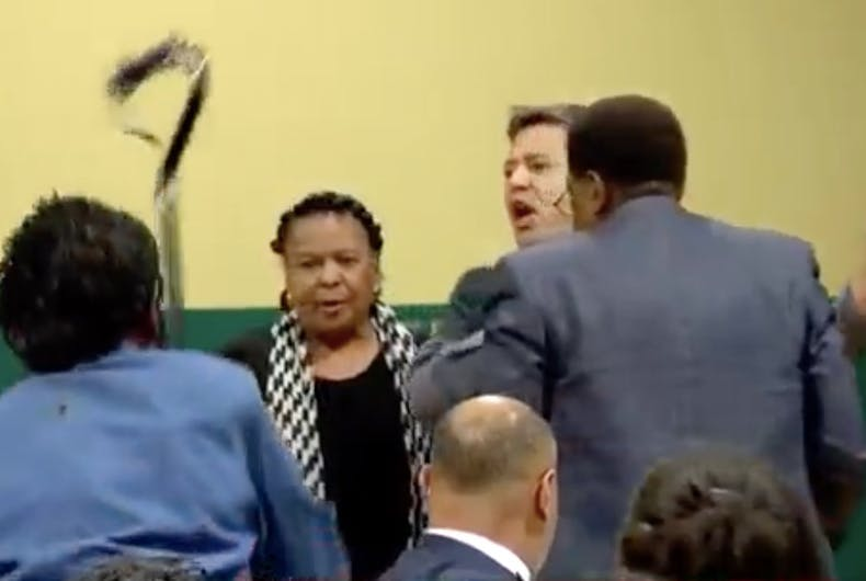 A scuffle broke out at a meeting of black voters who support Pete Buttigieg