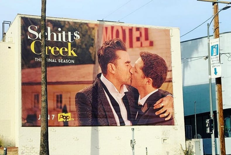 The Schitt's Creek billboard