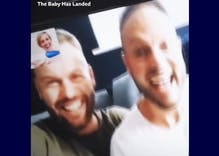 This gay couple's joyous moment they found out they're going to be dads was caught on video