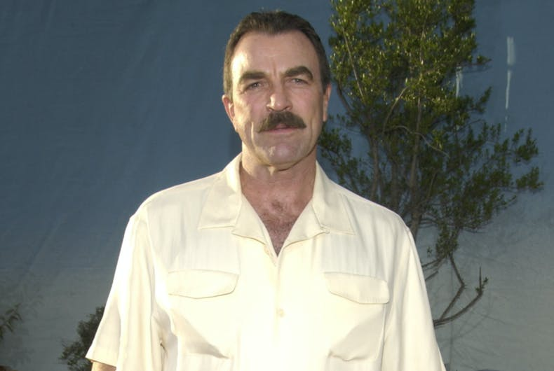 Aug 11, 2003: Actor Tom Selleck out and about in Hollywood, CA