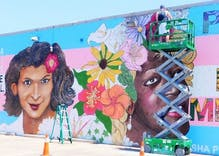 Mural of transgender icons vandalized with mustaches